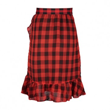 Street Called Madison Check It Out Skirt Black/Red