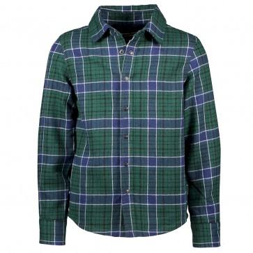 Sevenoneseven blouse ruit green/navy