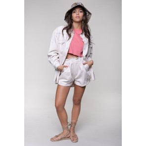 Colourful Rebel Milli Slouchy Short OffWhite