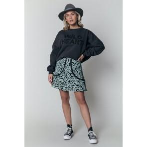 Colourful Rebel Maud Zebra Tape mini skirt