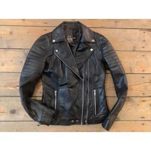 Rocking my bae leren biker jacket black dames