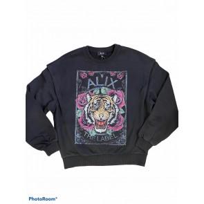 Alix The label sweater tiger black/multi colour