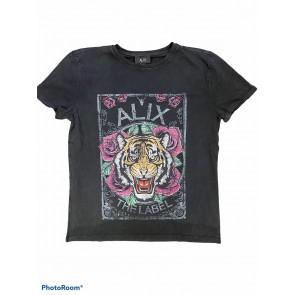 Alix The label Acid washed tiger tshirt black