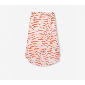 Alix The Label woven long zebra skirt orange