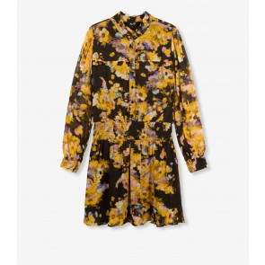 Alix The Label Honey Yellow Flower Dress