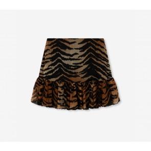 Alix The Label Tiger Crinkle Chiffon Skirt