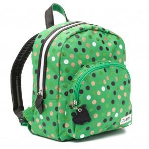 Zebra rugzak girls dots green 30 x 25 x 11 cm