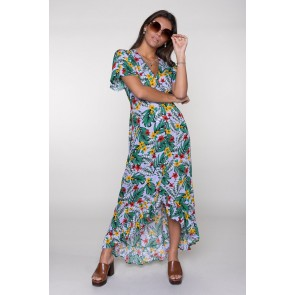 Colourful Rebel Tyra Tropical High Maxi Dress