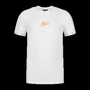 Malelions junior T-shirt Gini white orange