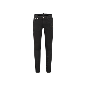 Malelions jeans splatter black high stretch