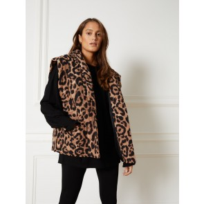 Refined Department quilted leopard gilet river